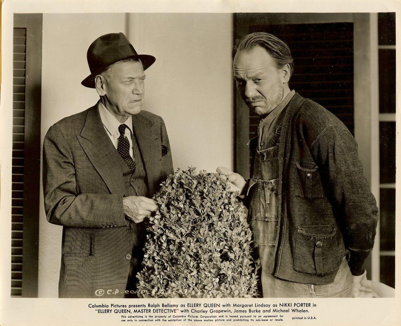 Ralph Bellamy Ellery Queen 1940 Vintage Movie Photo