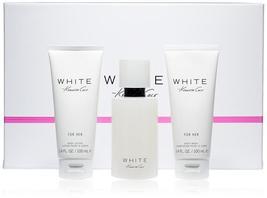 Kenneth Cole White Perfume 3.4 Oz Eau De Parfum Spray 3 Pcs Gift Set   image 1