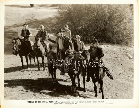 Robert Kellard PERILS of ROYAL Mounted 2 PHOTOGRAPHS