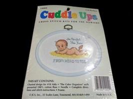 JCA Cuddle Ups I'm Perfect Baby Cross Stitch Kit With Frame Size 6″ x 4 ... - $9.89