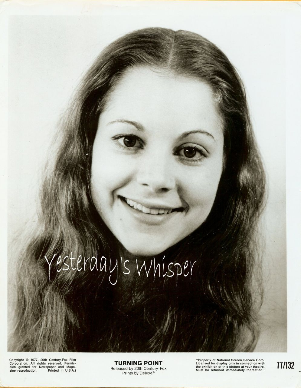 Leslie Browne The Turning Point 1970s Publicity PHOTO
