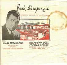 1930s jack dempsey napkin restaurant autograph boxing rare - $29.99