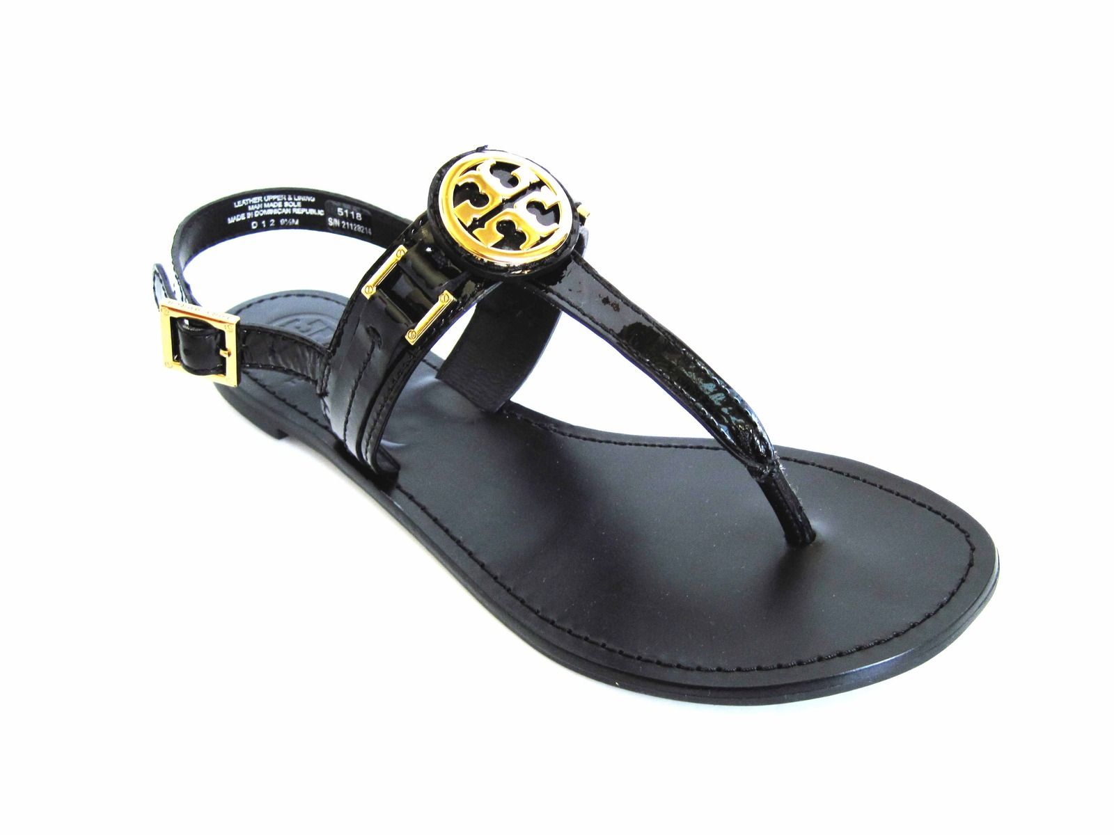 c45fb7a18c9 Tory Burch Patent Cassia Gold Logo Sandal and 30 similar items