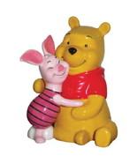 Disney Winnie the Pooh & Piglet Hugging Ceramic Salt & Pepper Shakers Se... - $29.02