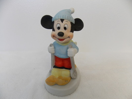 Disney Vintage Mickey Mouse Skiing Figurine  - $25.00