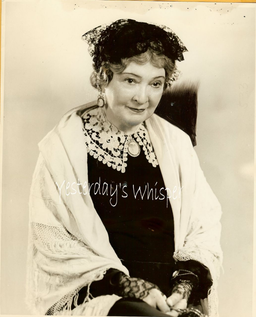 Olive West Old RADIO Actress 1935 ROMAINE Photograph