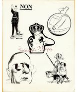 Charles DeGaulle French Caricatures CBS TV Ad Art Photo - $9.99