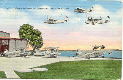 Primary image for  Coast Guard Gulf Coast Air Base Vintage 1942 Post Card.