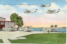 Coast Guard Gulf Coast Air Base Vintage 1942 Post Card. - $5.00