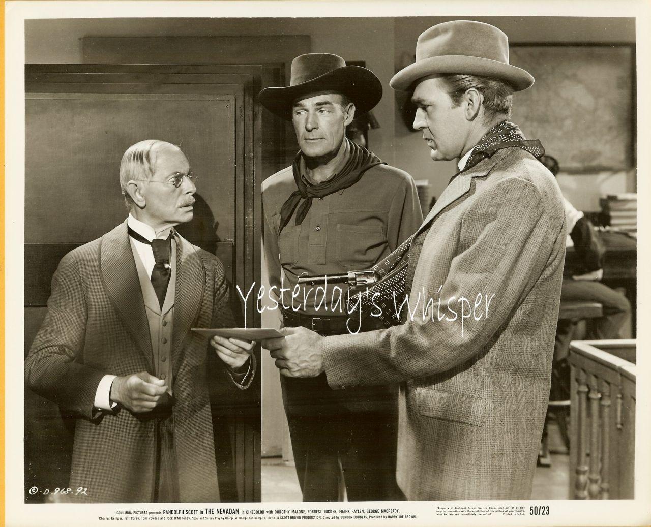 Randolph Scott Forrest Tucker Nevadan 1950 Movie Photo