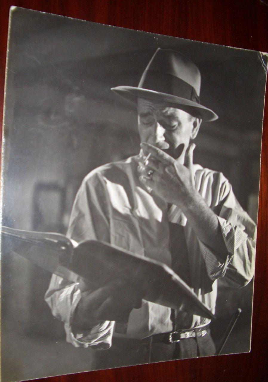 John Wayne Smoking Cigarette Oversized Candid vintage Photo