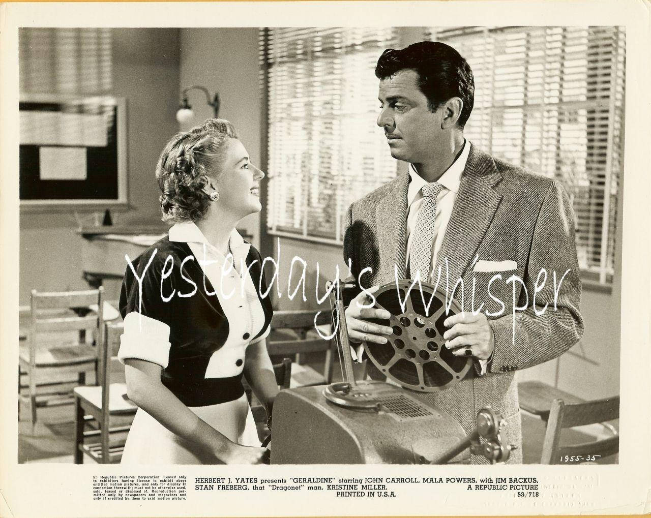 John Carroll Mala Powers Geraldine 1953 Movie Photo