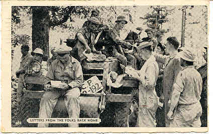 Primary image for Mail Call Camp Pickett Virginia 1943 Vintage Post Card