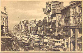 Oxford Street London Vintage Post Card By Beagles Company - $7.00
