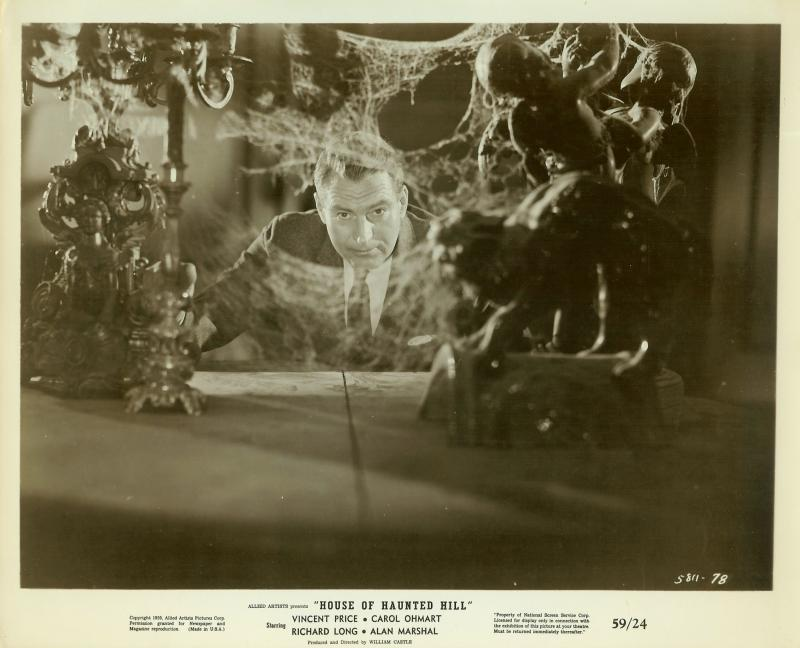 b874 HOUSE ON HAUNTED HILL ORIGINAL 1959 HORROR PHOTO