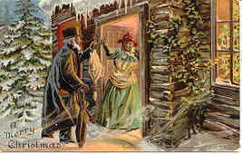 Merry Christmas African American vintage Post Card - $45.00