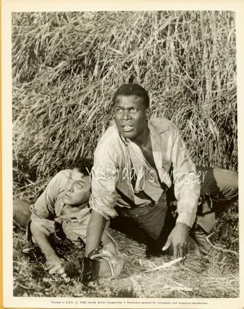 Tony Curtis Sidney Poitier The Defiant Ones 1958 Photo