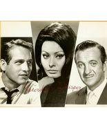 Paul Newman Sophia Loren David Niven Vintage 19... - $9.99