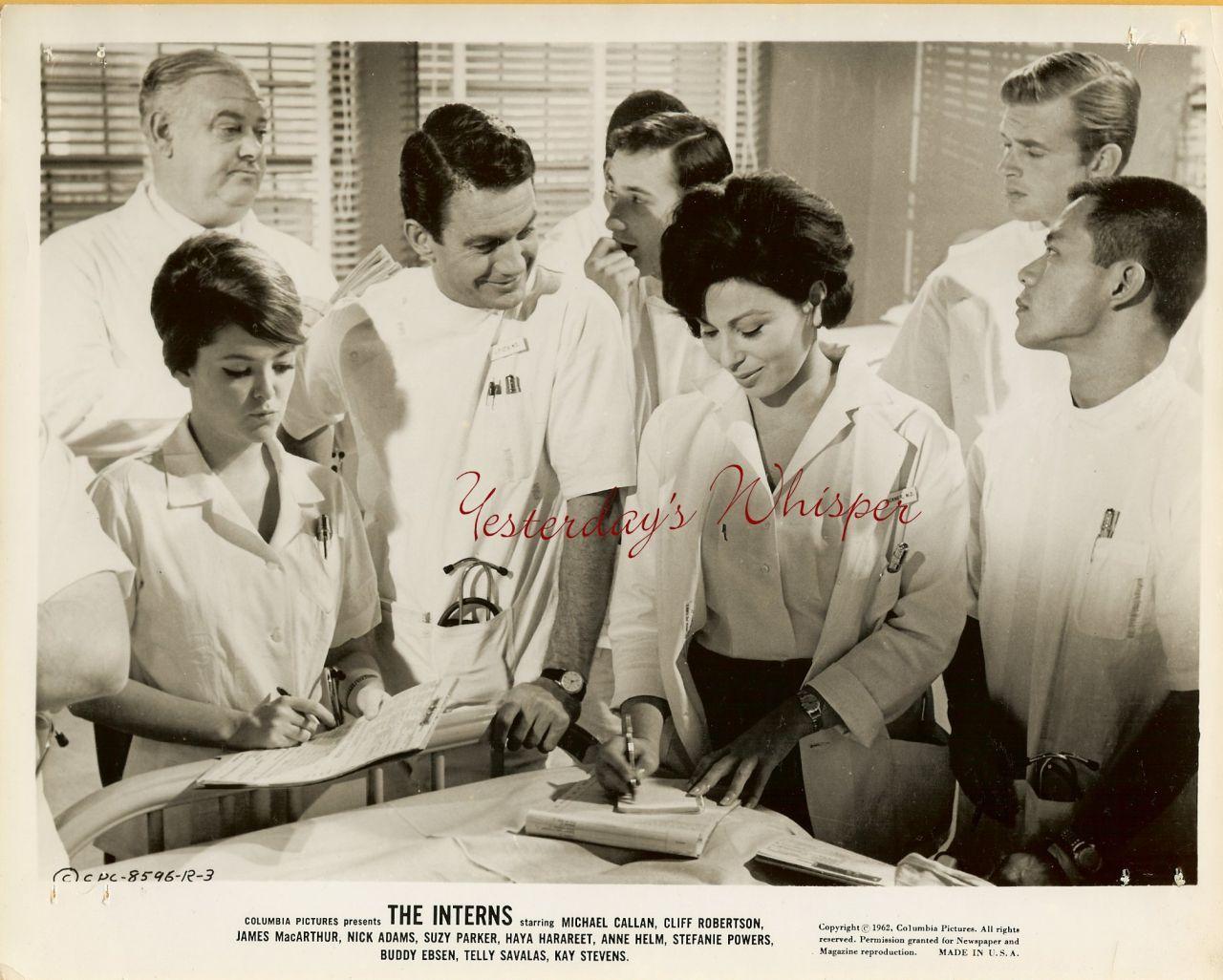 Suzy Parker Cliff Robertson The Interns 1962 Film Photo