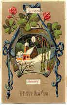 Happy New Year Mechanical Calendar Finkenrath Post Card - $12.00