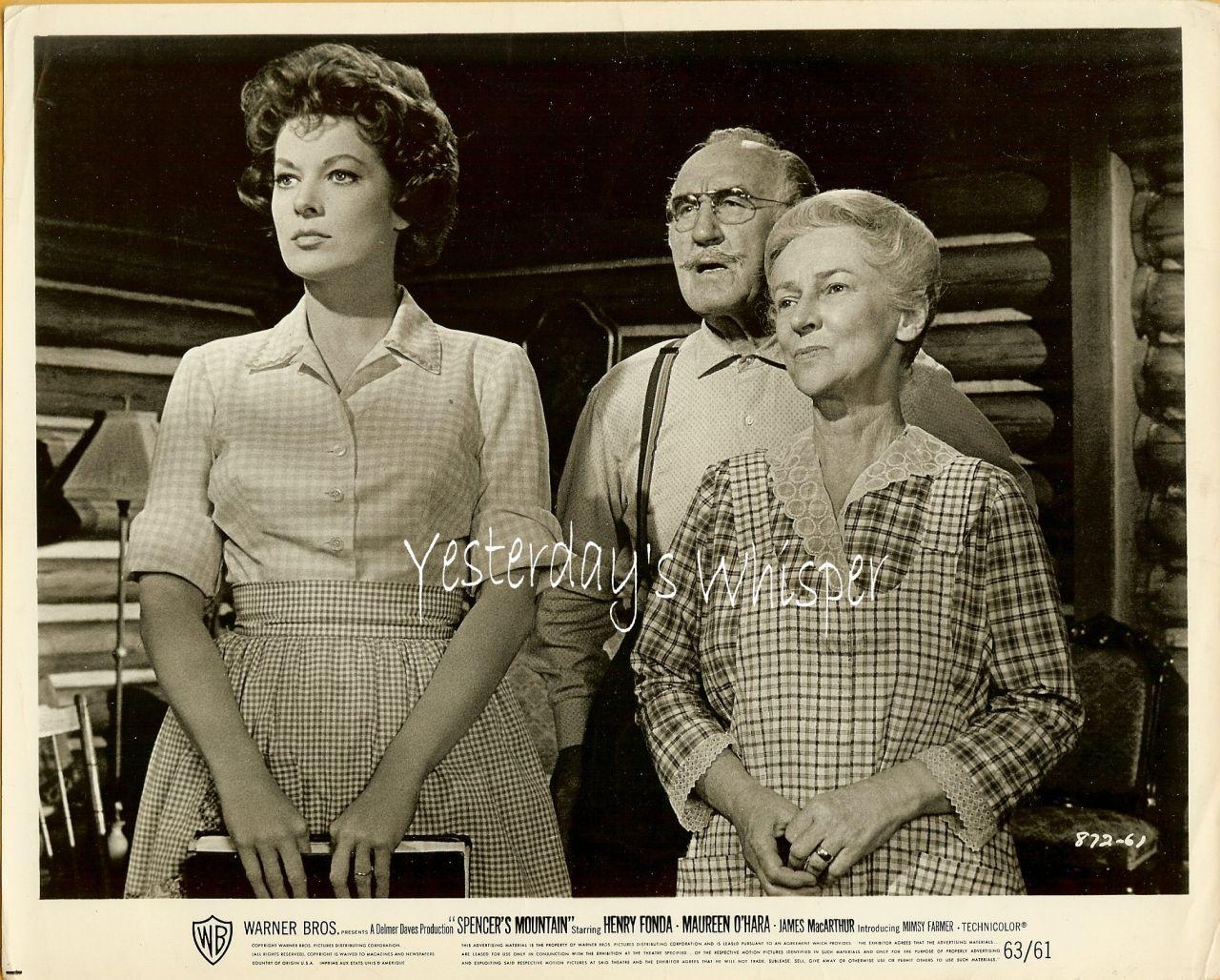 Maureen O'Hara Spencers Mountain 1963 Movie Photo