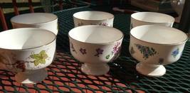 Royal Victoria Fine Bone China Footed Dessert Sherbert Cups Set of Six -... - $13.10