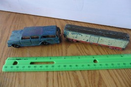 TootsieToy Die Cast Box Car Rubber wheels Vintage and Rambler Car Lot of... - $19.80