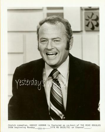 Harvey Korman Mike Douglas Show 1960s TV Promo PHOTO