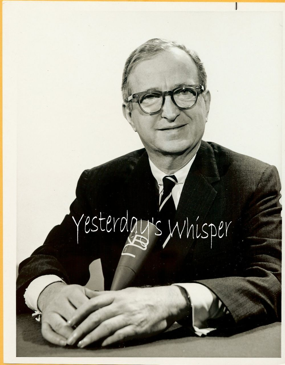 Laurence Spivak MEET the PRESS 1960s Vintage TV PHOTO