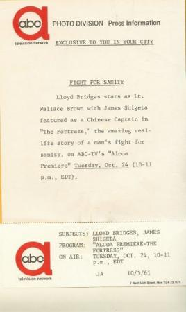 Lloyd Bridges James Shigeta Alcoa Premiere 61' TV Photo