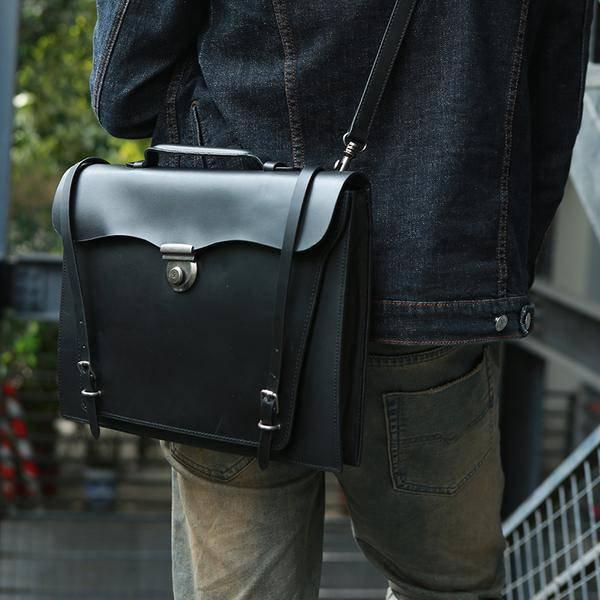 Sale, Handmade Men Tote Bag, Full Grain Leather Men Briefcase, Vintage Shoulder  image 2