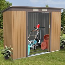 Home Patio Outdoor Storage Shed Garden Sliding Door Outside Tool House 4... - $395.99