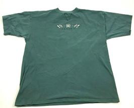 VINTAGE Alaska Native Shirt Men's Size 2XL XXL BLue Single Stitch Tribal... - $45.12