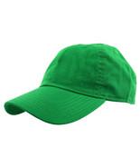 Kelly Green Baseball Cap Plain Polo Style Washed Adjustable 100% Cotton - $15.98