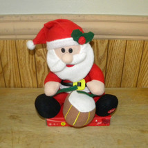 "Santa Claus Animated Singing Drummer See Demo 10"" Christmas Decoration - $14.68"