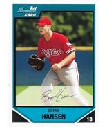 Bryan Hansen Bowman 2007 #BP43 Bowman Prospects Philadelphia Phillies - $0.15