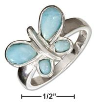 Sterling Silver Larimar Butterfly Ring - $119.99