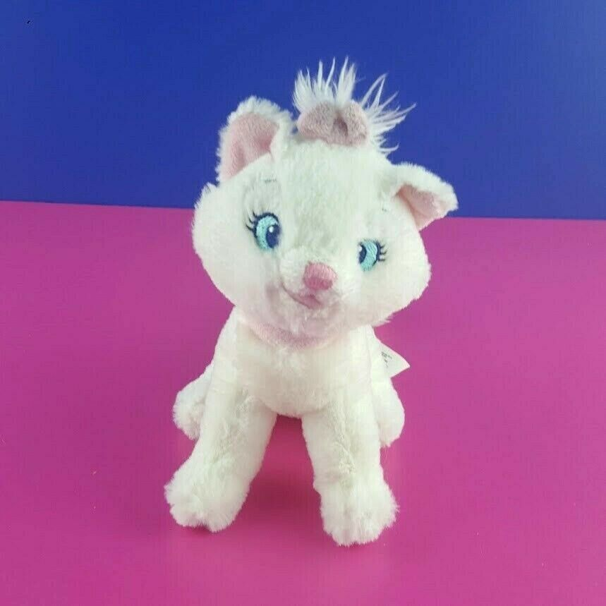 Disney Store Aristocats Plush Marie Sitting White Kitten Cat Stuffed Animal 7""