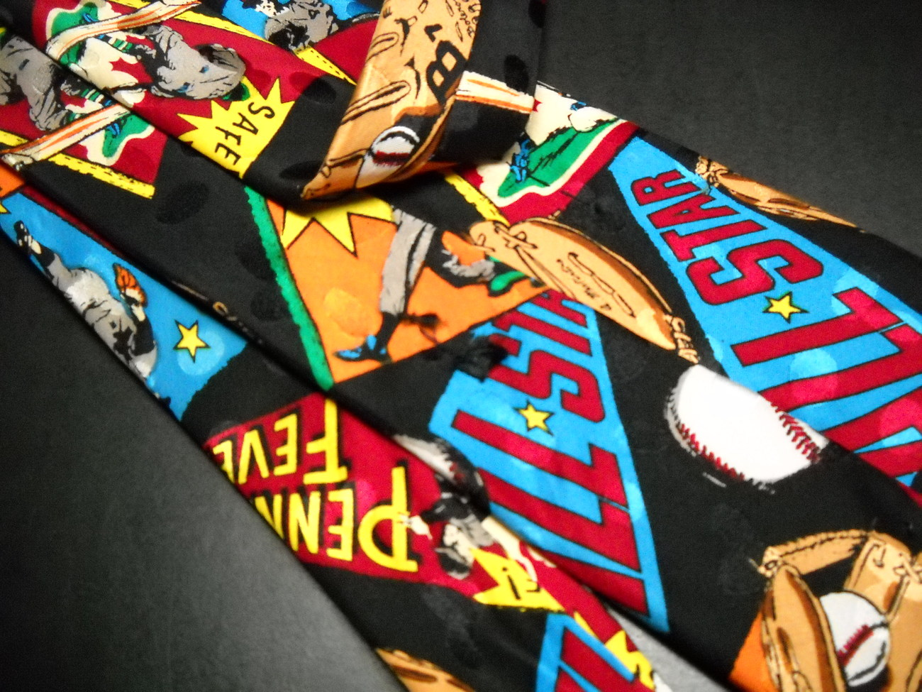 Addiction Dress Neck Tie Baseball Theme All Stars Pennant Fever Action Poses