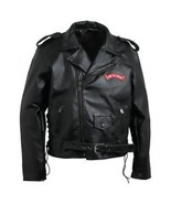 New Buffalo Leather Mens Motorcycle Jacket 3X Great Gift. - $59.99