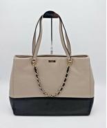 Kate Spade New York Town Road Francesca Leather Beige Black Shoulder Bag... - $275.00