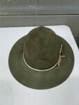 Mens 7 1/4 John B Stetson 3X Beaver Olive Green Drill Seargent Scout Mas... - $116.88