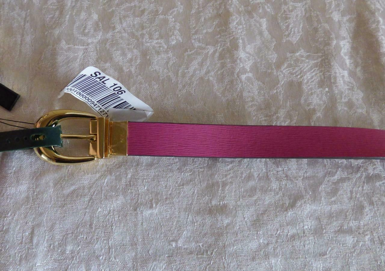 $48.00 Lauren Ralph Lauren Safiano to Smooth Women's  Reversible belt/ Rose/ Tan