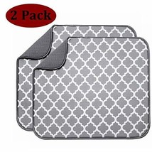 """Baby Bottle Drying Mat, 2 Pack Dish Drying Mat 18"""" x 16"""" Drying Pads for... - $14.09"""
