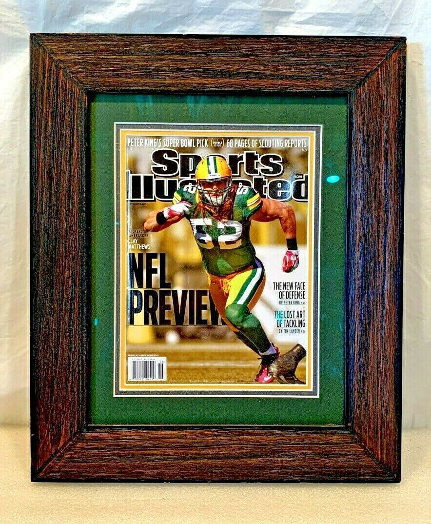 Primary image for CLAY MATTHEWS Matted & Framed Sports Illustrated Cover..Museum Glass