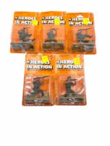 Lot (5) NOS Vintage 1974 Mattel Heroes in Action Card Figure Sealed Package image 1