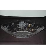 Duncan Miller Large Etched Bowl - Language of Flowers - $29.00