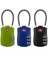 Eilin TSA Approved Luggage Locks, 3 Digit Combination Padlock Codes with... - $14.31
