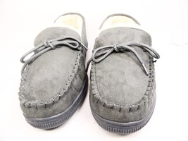 Boston Traveler  Moccasin Slippers 212M Gray Size 8 - $38.15 CAD