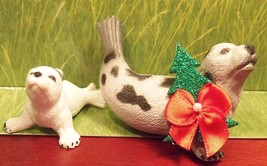Custom Wild Republic Animal Harp Baby Seal Set Christmas Holiday Ornamen... - $20.00